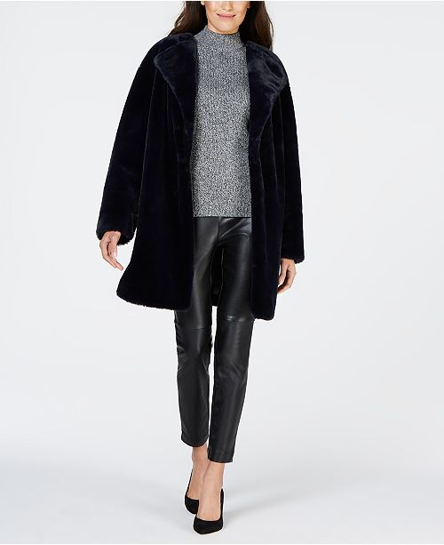 Style & Co Faux-Fur Teddy Coat, Created for Macy's