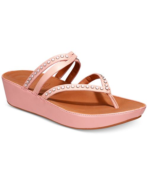 4da00c9e91b8 FitFlop Linny Wedge Sandals   Reviews - Sandals   Flip Flops - Shoes ...