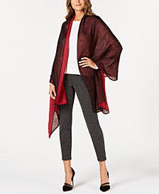 Cejon Metallic Wave Colorblocked Wrap