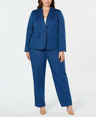 Le Suit Plus Size One Button Pantsuit Wear To Work Women Macy S