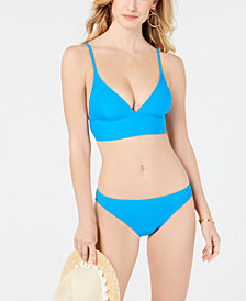 MICHAEL Michael Kors Lace-Up-Back Bikini Top & Bottoms
