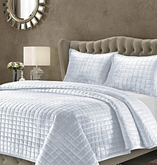Florence Velvet Solid Oversized Twin Quilt Set