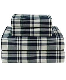 Winter Nights Cotton Flannel Queen Print Sheet Set