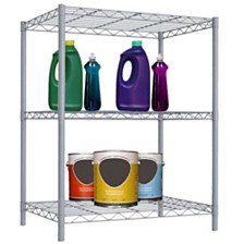 Home Basics 3 Tier Steel Wire Shelf