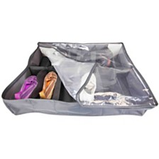 Home Basics 600D Polyester 12 Pair Under-the-Bed Shoe Box