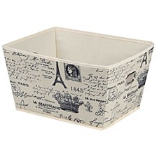Home Basics Paris Collection Large Non-Woven Storage Bin
