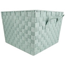 Home Basics X-Large Polyester Woven Strap Open Bin