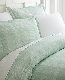 Home Collection Premium Ultra Soft Thatch Pattern 3 Piece Duvet Cover Set