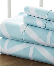Home Collection Premium Ultra Soft Arrow Pattern 4 Piece Bed Sheet Set