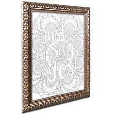 Hello Angel Letters and Words 14 Ornate Framed Art