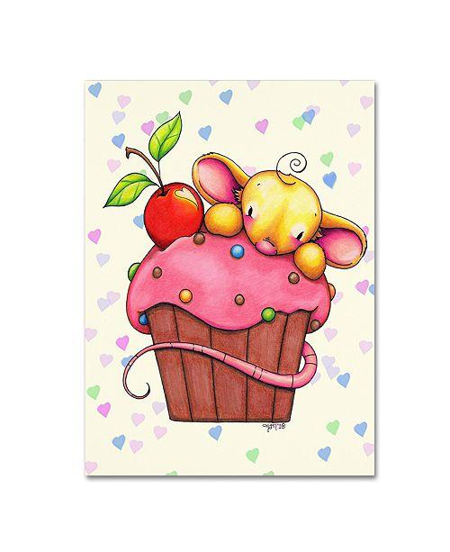 "Trademark Global Jennifer Nilsson Sweet Cherry Chip Canvas Art - 14"" x 19"" x 2"""