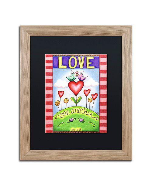 "Trademark Global Jennifer Nilsson Love One Another (Birds) Matted Framed Art - 16"" x 20"" x 0.5"""