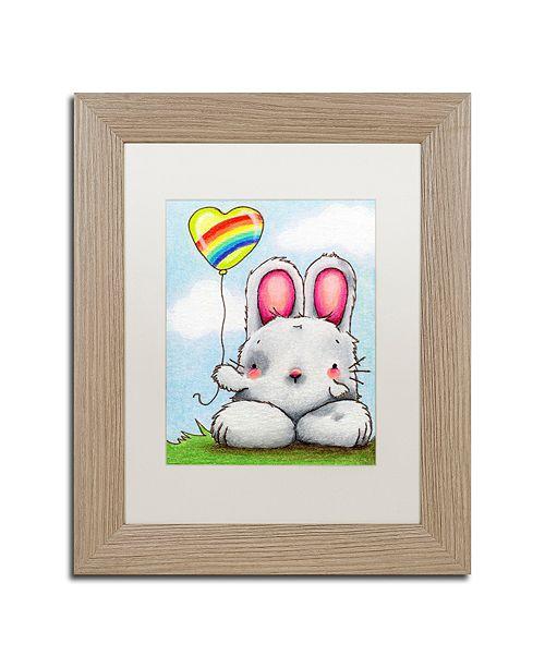 "Trademark Global Jennifer Nilsson Happy Day Matted Framed Art - 11"" x 14"" x 0.5"""