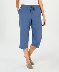 Karen Scott Knit Drawstring Capri Pants, Created for Macy's