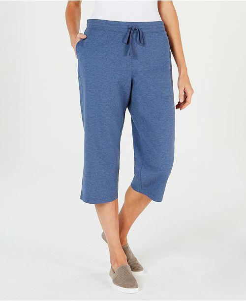 1c9f82bc Knit Drawstring Capri Pants, Created for Macy's