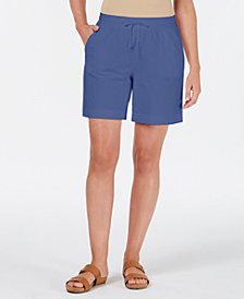 Karen Scott Knit Drawstring Shorts, Created for Macy's
