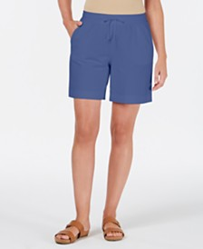 Karen Scott Knit Drawstring Shorts, Created for Macy's