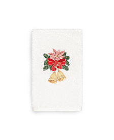 Linum Home Christmas Bells 100% Turkish Cotton Hand Towels