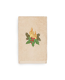 Linum Home Christmas Candles 100% Turkish Cotton Hand Towels