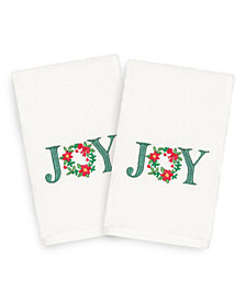 Linum Home Christmas Joy 100% Turkish Cotton 2-Pc. Hand Towel Set
