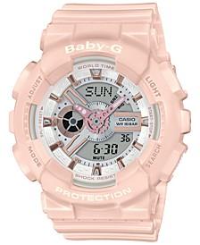 Women's Analog-Digital Blush Resin Strap Watch 43.4mm