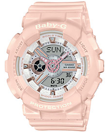 Baby-G Women's Analog-Digital Blush Resin Strap Watch 43.4mm