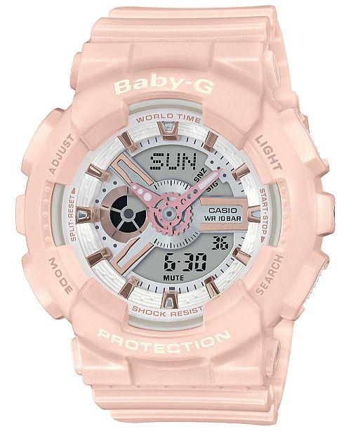 5ad5575e4 G-Shock Baby-G Women's Analog-Digital Blush Resin Strap Watch 43.4mm ...