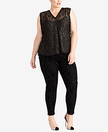 RACHEL Rachel Roy Plus Size Lace Top, Created for Macy's