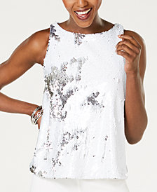 I.N.C. Sequin Shell Top, Created for Macy's