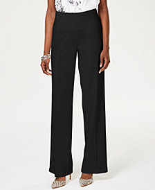 I.N.C. Wide-Leg Crêpe Pull-On Pants, Created for Macy's