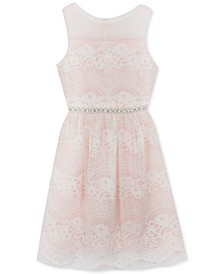 Big Girls Plus-Size Embellished Lace Dress