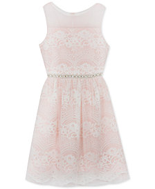 Rare Editions Big Girls Embellished Lace Dress