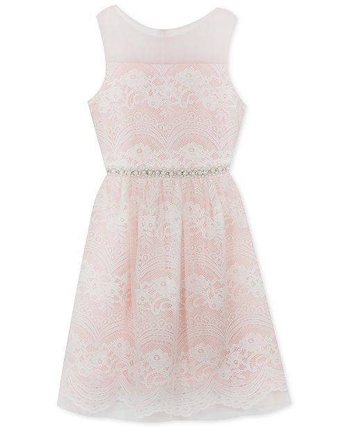 Rare Editions Big Girls Plus-Size Embellished Lace Dress & Reviews ...