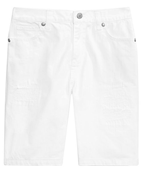 Epic Threads Big Boys White Denim Shorts, Created for Macy's