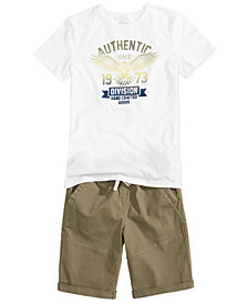 Epic Threads Big Boys Graphic T-Shirt & Twill Shorts, Created for Macy's