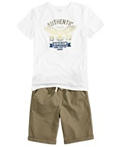 e8792a3ee Epic Threads Big Boys Graphic T-Shirt & Twill Shorts, Created for Macy's