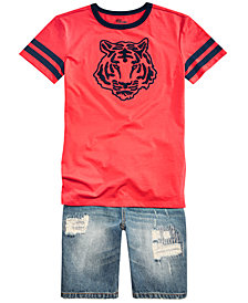 Epic Threads Big Boys Graphic T-Shirt & Denim Hamilton Shorts, Created for Macy's
