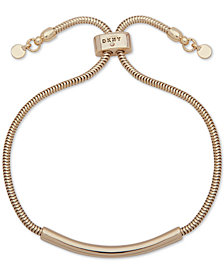 DKNY Gold-Tone Bar & Snake Chain Slider Bracelet