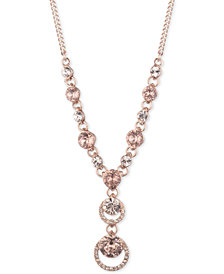 "Givenchy Pavé Lariat Necklace, 16"" + 3"" extender"