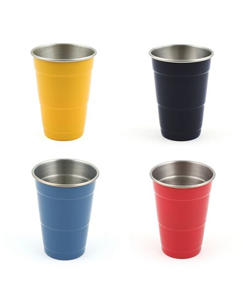 Fiesta 16oz Everyday Cups, Set of 4 - Scarlet, Daffodil, Lapis and Cobalt