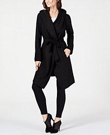 Alfani Drape-Front Hooded Jacket, Created for Macy's