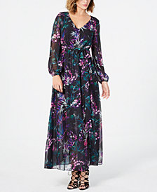 Nine West Dark Floral Maxi Dress
