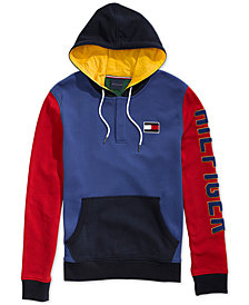 Tommy Hilfiger Adaptive Men's  Old School Popover Hoodie with Magnetic Closure