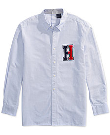 Tommy Hilfiger Adaptive Men's New England H Applique Shirt with Magnetic Buttons