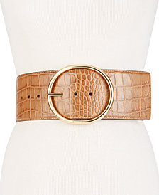 MICHAEL Michael Kors Oversized Croc-Embossed Belt