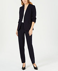Bar III One-Button Blazer, Lace-Inset Shell & Stretch Pants, Created for Macy's