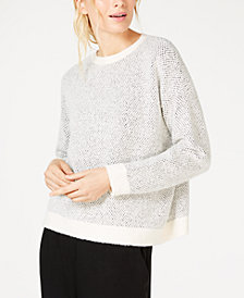 Eileen Fisher Organic Cotton Round-Neck Sweater