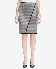 Calvin Klein Petite Houndstooth Pencil Skirt