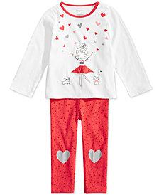 First Impressions Baby Girls Ballerina Tunic & Heart Leggings Separates, Created for Macy's