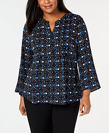 NY Collection Plus Size Printed Shirt